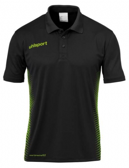 Score Polo Shirt Black / Fluo Green